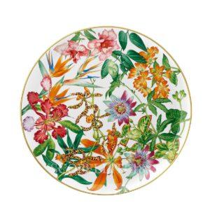 hermes passifolia porcelain plate tart