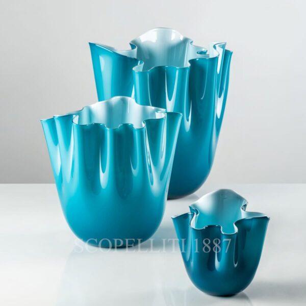 venini vase fazzoletto new color horizon blue
