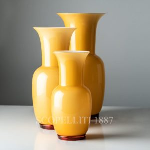 venini vase opalino new color amber