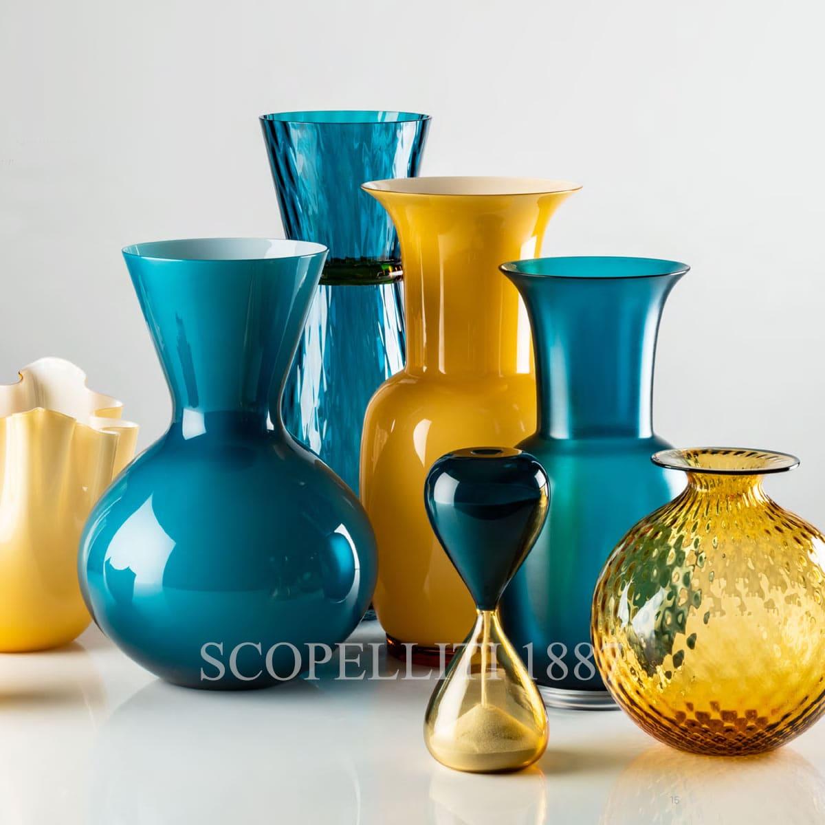 venini vase fazzoletto new color amber