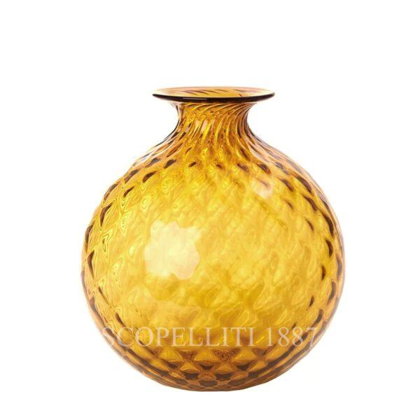 venini balloton amber monofiore vase