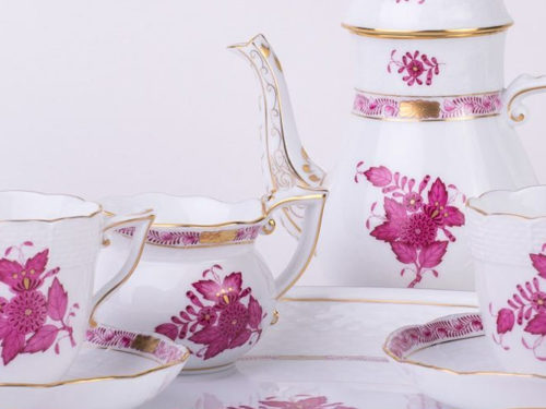 Herend Coffee Set for Two People