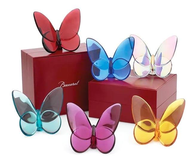 baccarat crystal butterflies