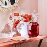 baccarat red vase