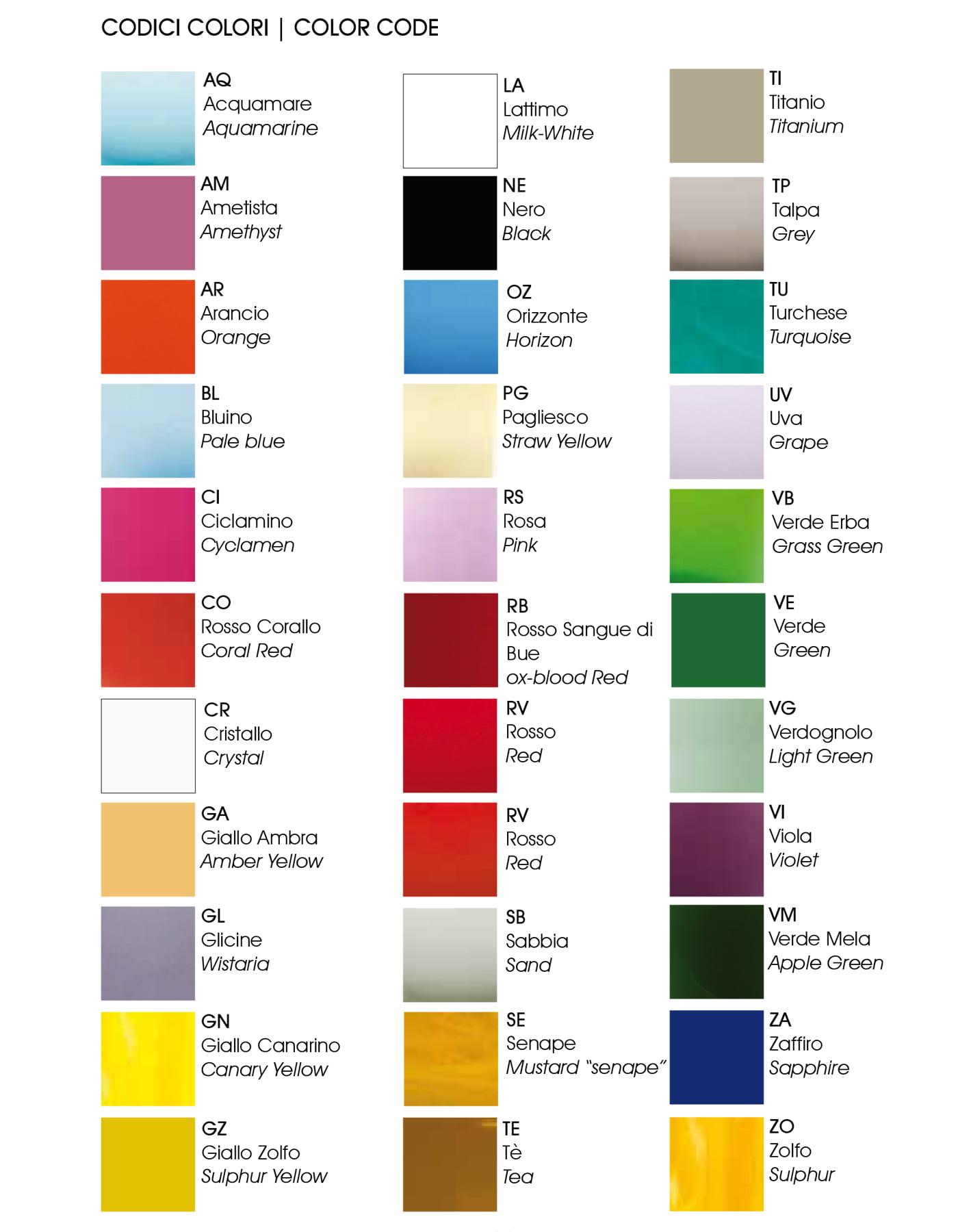 venini colours