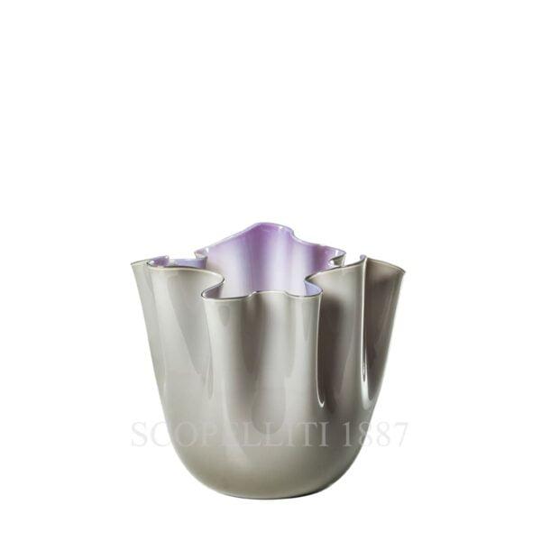 venini fazzoletto vase grey indigo