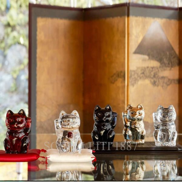 baccarat figurines cats