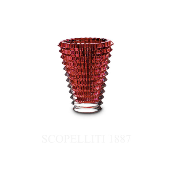 small red baccarat eye vase