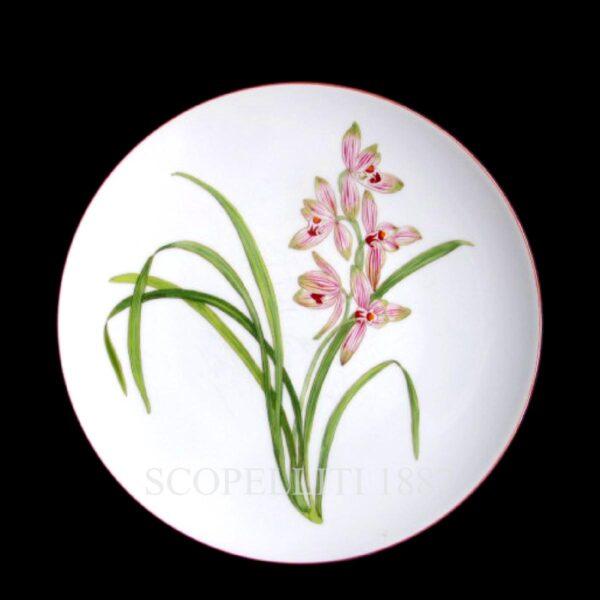 hermes dinner plate jardin des orchidees