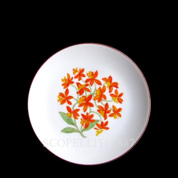 hermes bread butter plate jardin des orchidees