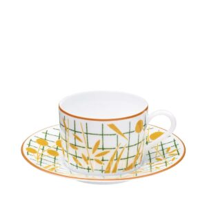hermes a walk in the garden tea cup yellow