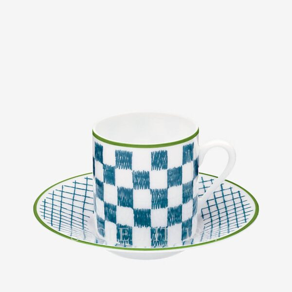hermes a walk in the garden blue coffee cup