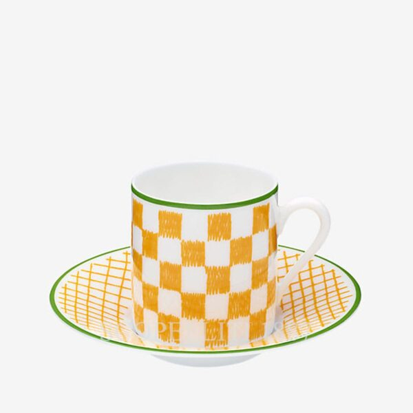 hermes a walk in the garden yellow coffee cup