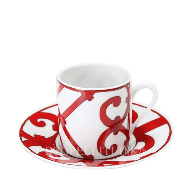 hermes coffee cup guadalquivir red