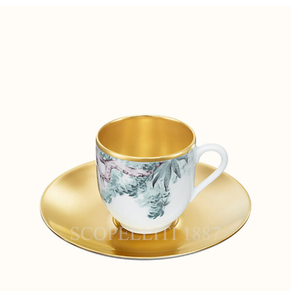 hermes gold coffee cup and saucer carnets d equateur or