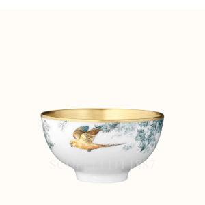 hermes gold medium bowl birds carnets d equateur or