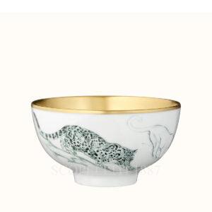 hermes gold medium bowl felines carnets d equateur or