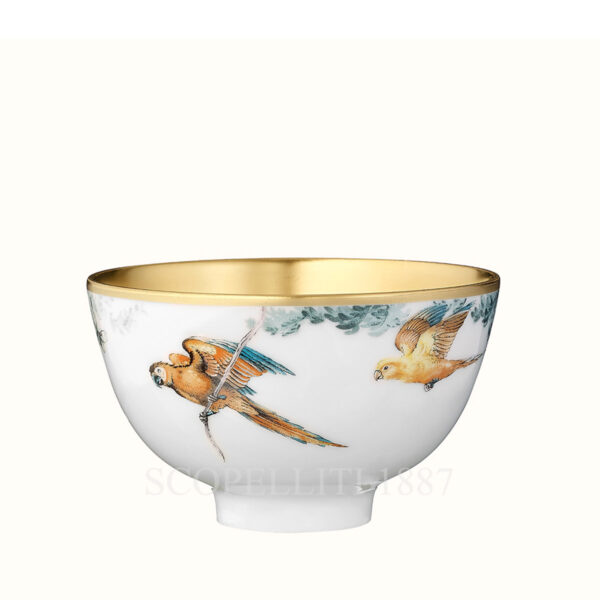 hermes gold small bowl without lid carnets d equateur or