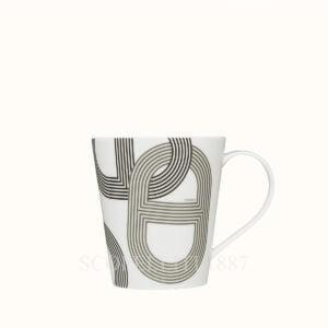 hermes rallye porcelain mug