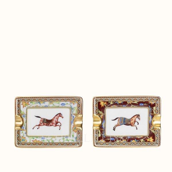 hermes set of 2 mini ashtrays gift set cheval d orient suite