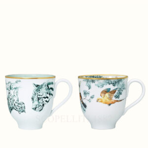 hermes set of 2 mugs carnets d equateur