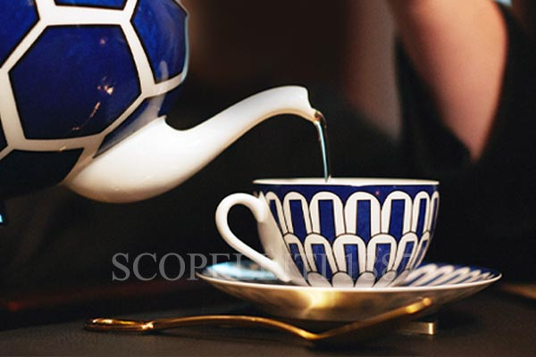 hermes tea cup and saucer blue