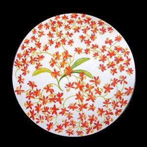 hermes presentation plate jardin des orchidees