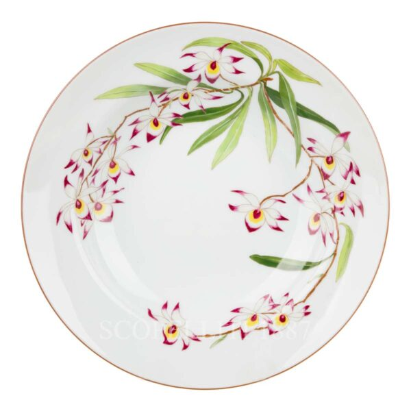hermes jardin des orchidees round deep plate