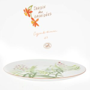 hermes jardin des orchidees tart plate