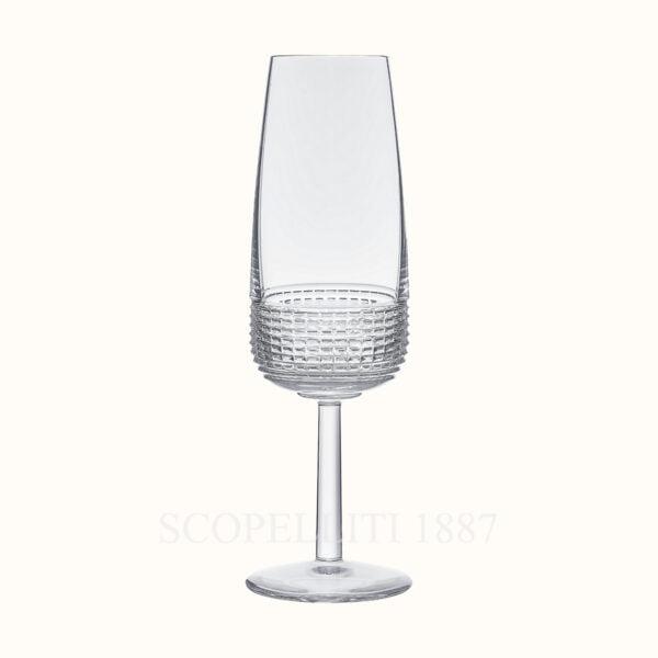 hermes crystal champagne flute intervalle