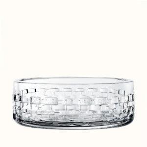 hermes crystal large bowl adage