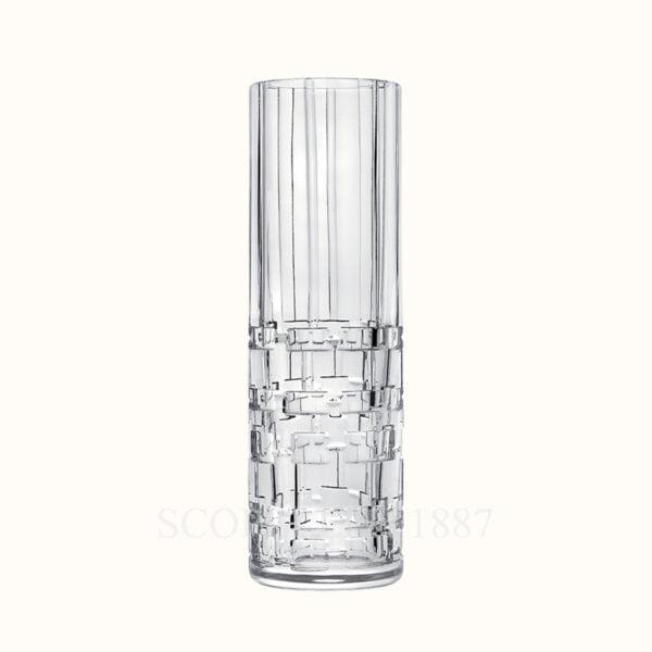 hermes crystal small high vase adage