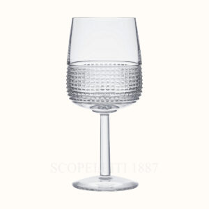 hermes crystal stemmed glass intervalle