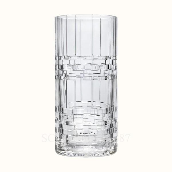 hermes crystal very large exceptional vase adage