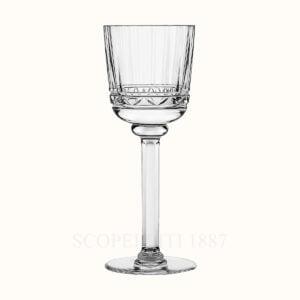 hermes crystal white wine glass iskender