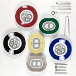 hermes gift set 6 mini oval plates rallye 24