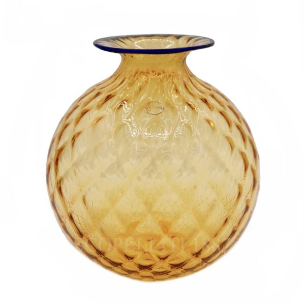 venini limited edition unique vase amber