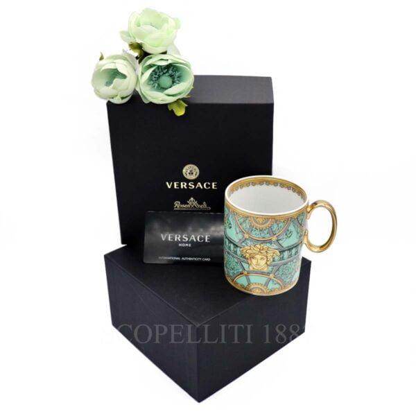 versace mug green