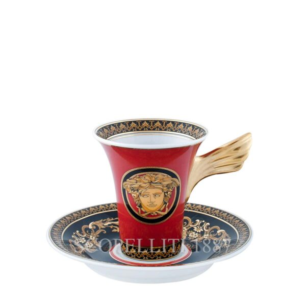 versace medusa red coffee cup