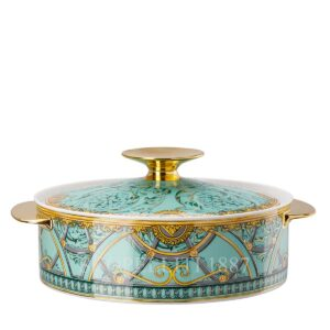 versace covered vegetable bowl scala del palazzo green