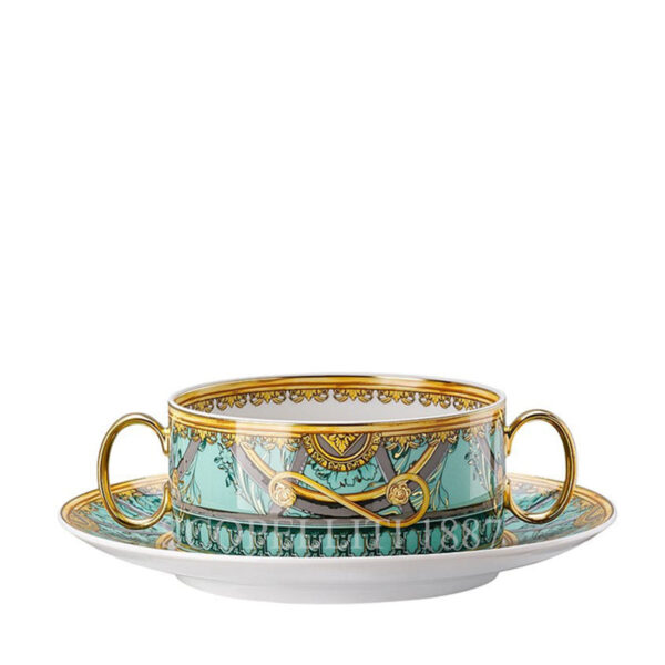 versace creamsoup with saucer scala del palazzo green
