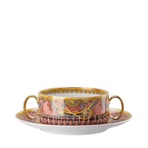 versace creamsoup with saucer scala del palazzo rose