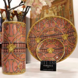 versace la scala del palazzo rose vase and plates
