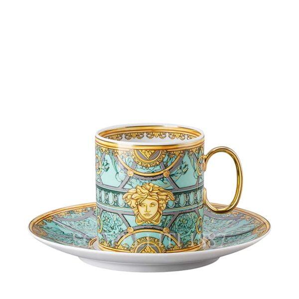 versace green coffee cup