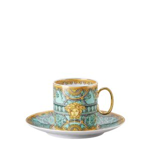 versace green cespresso cup