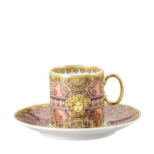 versace scala del paalazzo coffee cup rose
