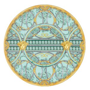versace service plate 33 cm scala del palazzo green