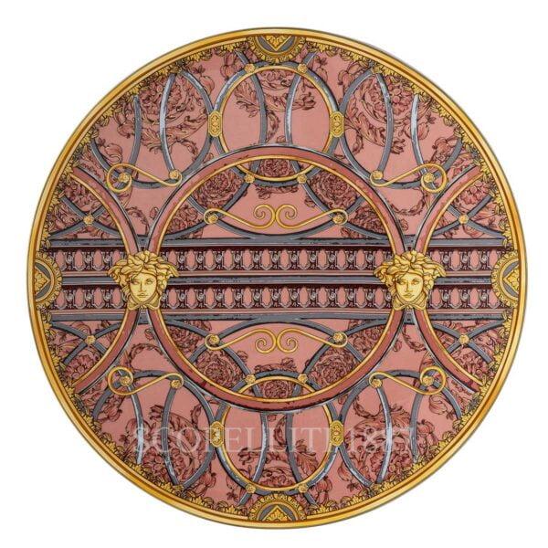 versace service plate 33 cm scala del palazzo rose
