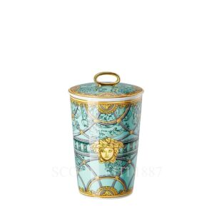 versace table light with scented wax scala del palazzo green