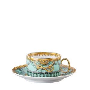 versace tea cup and saucer scala del palazzo green
